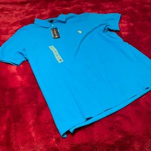 Men's Polo Shirt Brand New Blue Size Large
